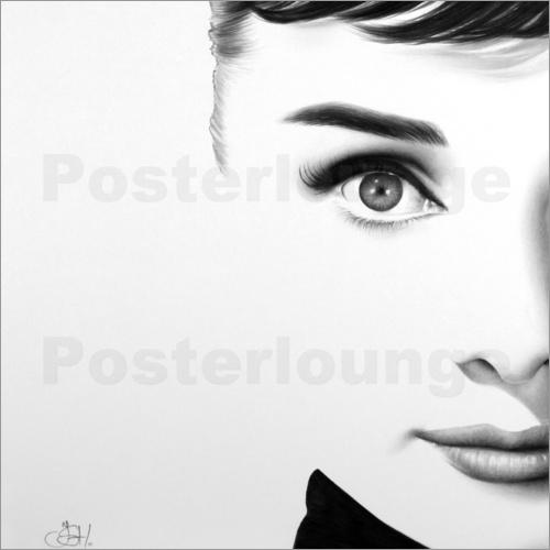 audrey hepburn bilder ab 6 90 kaufen gratisversand posterlounge. Black Bedroom Furniture Sets. Home Design Ideas