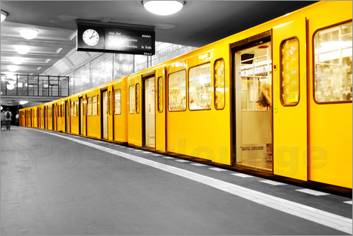bildpics berlin subway u bahn poster online bestellen posterlounge. Black Bedroom Furniture Sets. Home Design Ideas