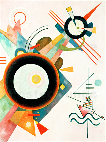 wassily kandinsky bild mit pfeilform poster online bestellen posterlounge. Black Bedroom Furniture Sets. Home Design Ideas