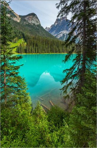 Poster Blick auf den Emerald Lake in Kanada - Panorama  - British Columbia