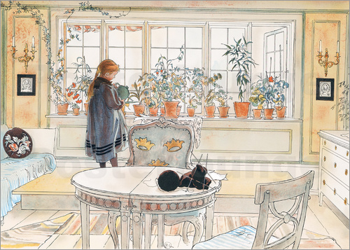 carl larsson blumen auf der fensterbank poster online bestellen posterlounge. Black Bedroom Furniture Sets. Home Design Ideas