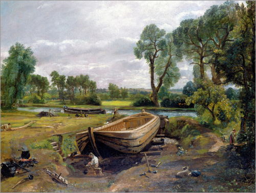 John Constable - Boat Building