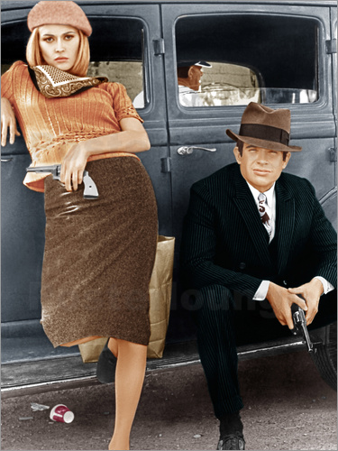 bonnie und clyde poster online bestellen posterlounge. Black Bedroom Furniture Sets. Home Design Ideas