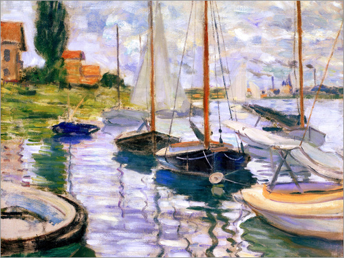 Claude Monet - Boote in Argenteuil
