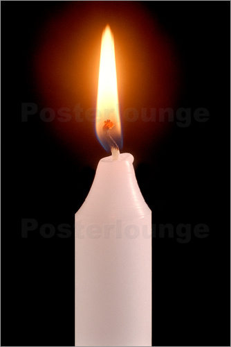 Poster Candle flame