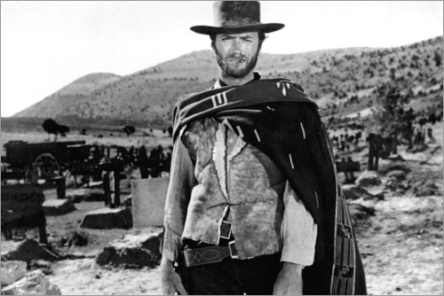 Clint Eastwood in einem Western