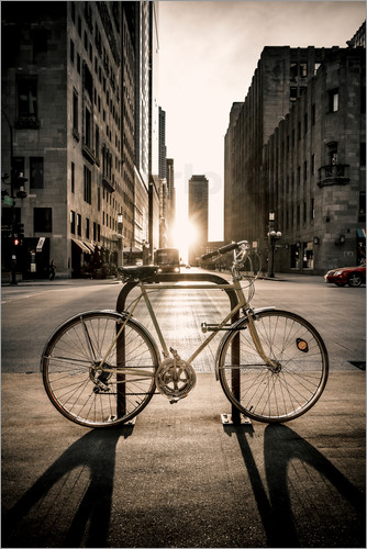 s ren bartosch das fahrrad chicago poster online. Black Bedroom Furniture Sets. Home Design Ideas