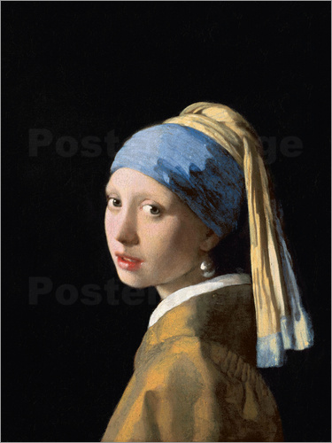 jan vermeer das m dchen mit dem perlenohrring poster online bestellen posterlounge. Black Bedroom Furniture Sets. Home Design Ideas