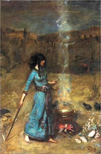John William Waterhouse - Das magische Zirkel