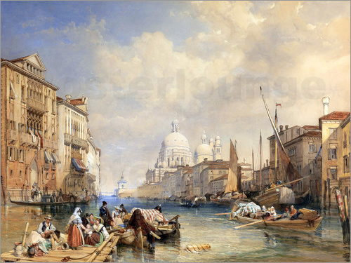 James Duffield Harding - Der Canal Grande, 1835