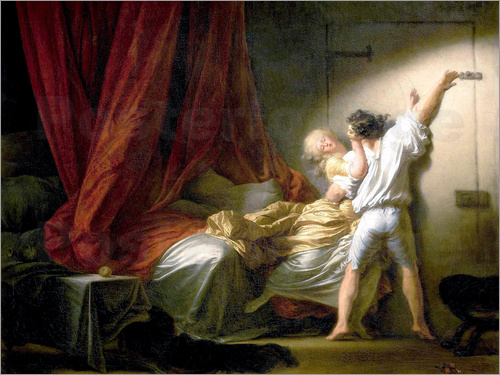 jean honor fragonard der riegel poster online bestellen posterlounge. Black Bedroom Furniture Sets. Home Design Ideas