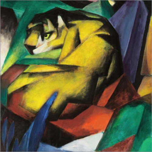 franz marc der tiger poster online bestellen posterlounge. Black Bedroom Furniture Sets. Home Design Ideas