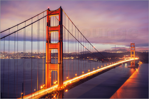 Die Golden Gate Bridge in der Nacht, San Francisco