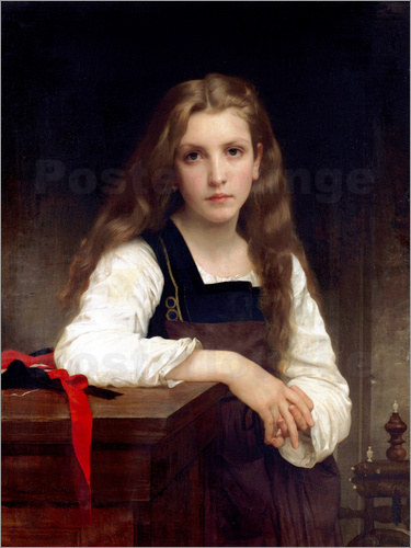 William Adolphe Bouguereau - Die kleine Spinnerin