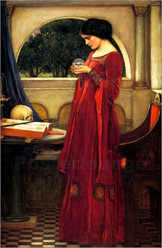 John William Waterhouse - Die Kristallkugel