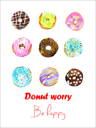 rongrong devoe donuts poster online bestellen posterlounge. Black Bedroom Furniture Sets. Home Design Ideas