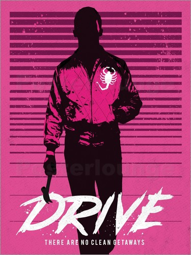 Poster Drive ryan gosling movie inspired art