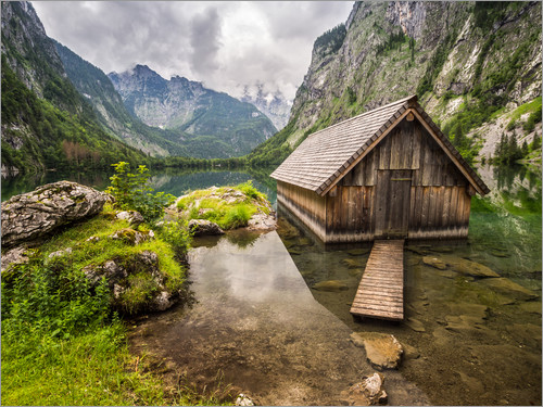 andreas wonisch einsame h tte am obersee k nigssee poster online bestellen posterlounge. Black Bedroom Furniture Sets. Home Design Ideas