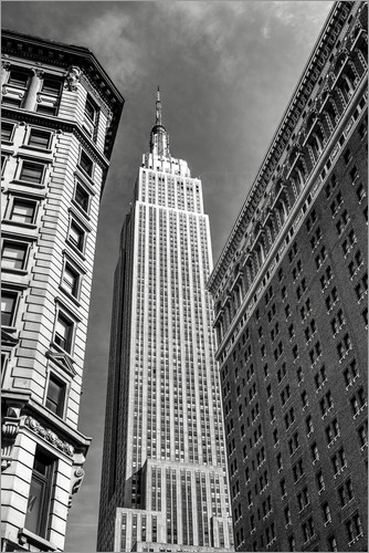 sascha kilmer empire state building new york city schwarz wei poster online bestellen. Black Bedroom Furniture Sets. Home Design Ideas