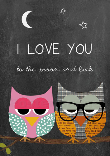 GreenNest - Eulen - I love you to the moon and back
