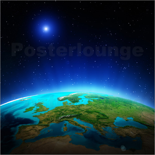 europa auf planet erde poster online bestellen posterlounge. Black Bedroom Furniture Sets. Home Design Ideas
