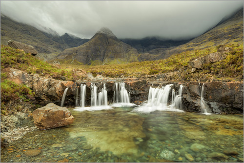 Poster Fairy Pools, Isle of Skye, Schottland