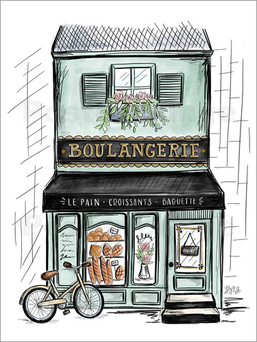 Poster French Shop Front - Boulangerie