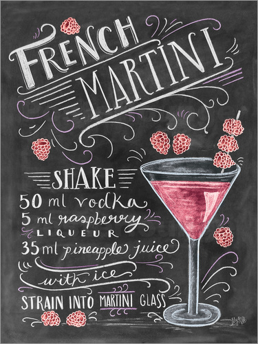 Poster French Martini Rezept