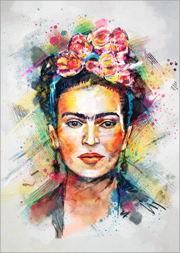 frida kahlo poster ab 6 90 bestellen gratisversand posterlounge. Black Bedroom Furniture Sets. Home Design Ideas
