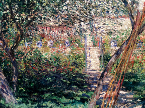 Claude Monet - Garten in Vétheuil