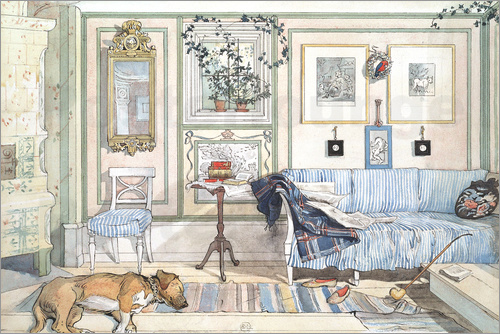 carl larsson gem tliche ecke poster online bestellen posterlounge. Black Bedroom Furniture Sets. Home Design Ideas