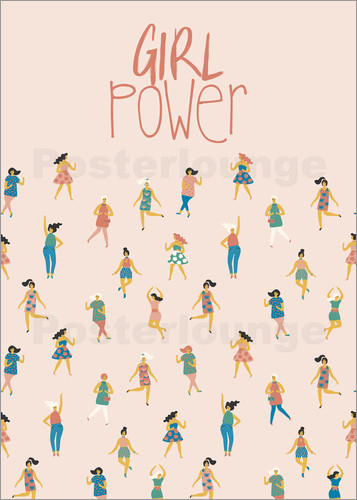 girl power poster online bestellen posterlounge. Black Bedroom Furniture Sets. Home Design Ideas