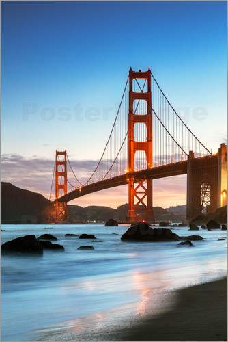 golden gate bridge bilder online kaufen gratisversand. Black Bedroom Furniture Sets. Home Design Ideas