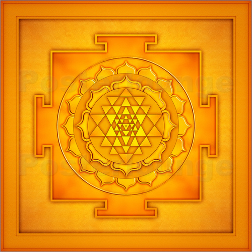 Poster Golden Sri Yantra - Artwork II