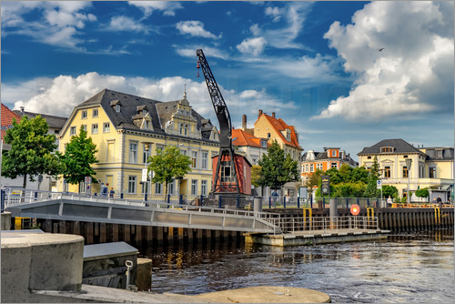 rainer ganske hafen in oldenburg poster online bestellen posterlounge. Black Bedroom Furniture Sets. Home Design Ideas