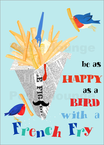 Elisandra Sevenstar - happy as a bird with a french fry