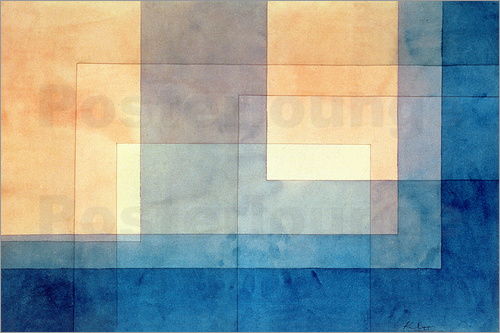 paul klee haus auf dem wasser poster online bestellen posterlounge. Black Bedroom Furniture Sets. Home Design Ideas