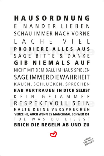 typografie poster ab 9 90 bestellen gratisversand. Black Bedroom Furniture Sets. Home Design Ideas