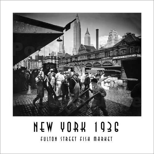 Christian m ringer historisches new york fulton street for Fulton fish market online