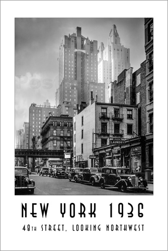 Christian Müringer - Historisches New York: Manhattan, 48th street, looking northwest