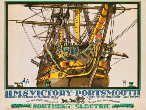 Kenneth Shoesmith - HMS Victory, Portsmouth, Plakatwerbung Southern Electric Railways