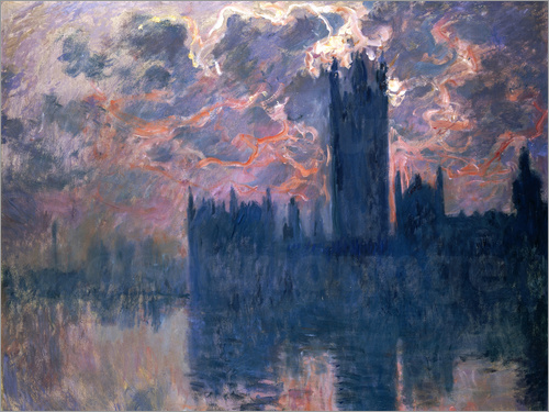 Claude Monet - Houses of Parliament, Sonnenuntergang