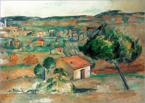 Paul Cézanne - Hügel in der Provence