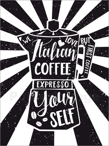 Nory Glory Prints - Italian Coffee Typo