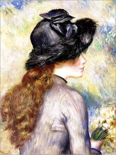 pierre auguste renoir junges m dchen mit tulpenstrau poster online bestellen posterlounge. Black Bedroom Furniture Sets. Home Design Ideas