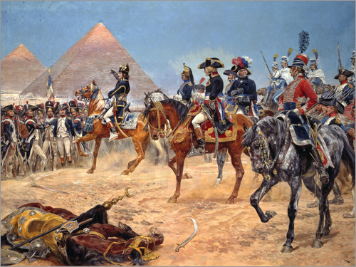 Richard Caton Woodville - Kaiser Napoleon I. in Ägypten am 21. Juli 1798. 1911