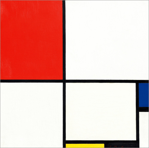 piet mondrian komposition mit rot blau und gelb poster. Black Bedroom Furniture Sets. Home Design Ideas