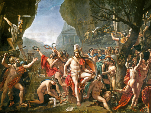 Jacques-Louis David - Leonidas an den Thermopylen. 1814.