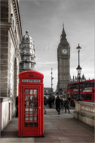 Filtergrafia - London Telefonzelle und Big Ben