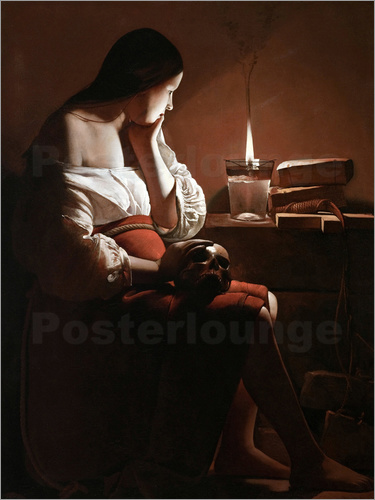 Poster The Magdalen with the Smoking Flame